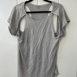 Cut Out Grey Shirt